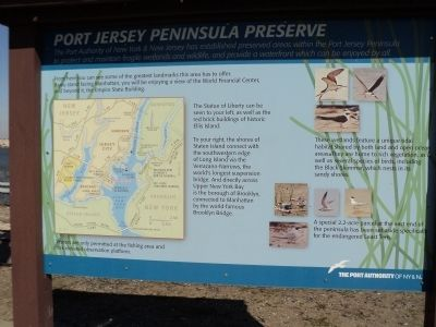 Port Jersey Peninsula Preserve Marker image. Click for full size.