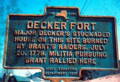 Decker Fort Marker image. Click for full size.