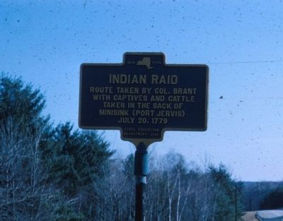 Indian Raid Marker Photo, Click for full size