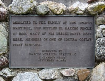 Dedicated to the Family of Don Ignacio Martinez Marker image. Click for full size.