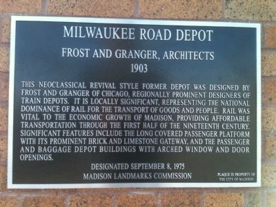 Milwaukee Road Depot Marker image. Click for full size.