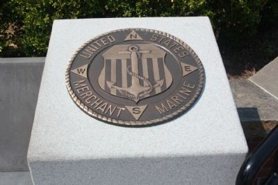 """A World Apart"" Marker United States Merchant Marine Tribute image. Click for full size."