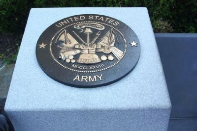 """A World Apart"" Marker United States Army Tribute image. Click for full size."