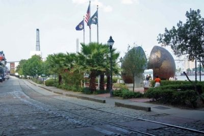 """A World Apart"" Marker and Park along W River Street image. Click for full size."