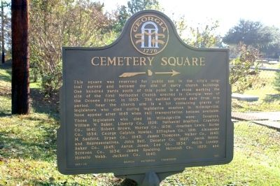 Cemetery Square Marker image. Click for full size.