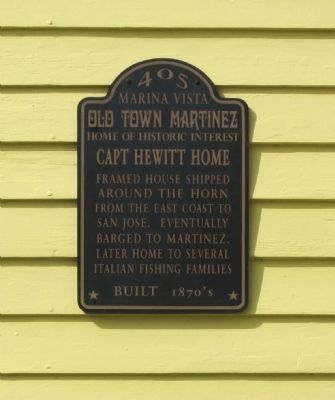 Capt Hewitt Home Marker image. Click for full size.
