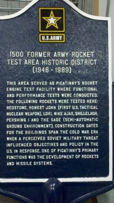 1500 Former Army Rocket Test Area Historic District (1946-1989) Marker image. Click for full size.