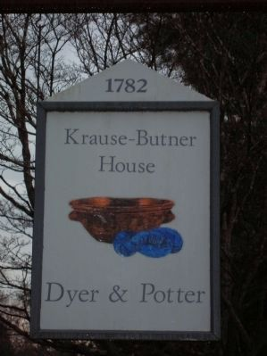 Krause-Butner Pottery Shop sign image. Click for full size.