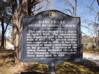 Dancyville United Methodist Church Marker image. Click for full size.