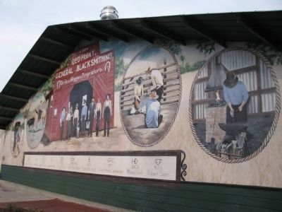 Red Front Blacksmith Shop Mural Photo, Click for full size