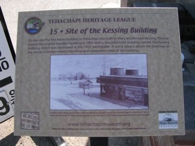 Site of the Kessing Building Marker image. Click for full size.