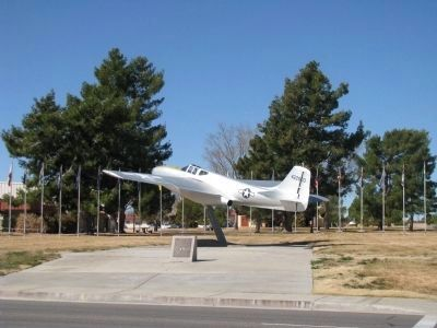 Bell XP-59A Jet Aircraft Marker & Flag Memorial Square Marker image. Click for full size.