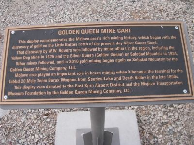 Golden Queen Mine Cart Marker image. Click for full size.