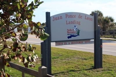 Ponce de Leon Landing Park Sign image. Click for full size.