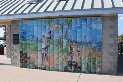 Mural of Ponce de Leon's Landing image. Click for full size.