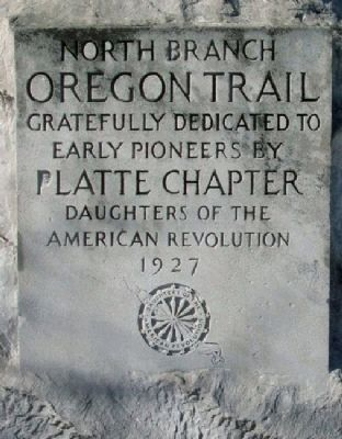 North Branch, Oregon Trail Marker image. Click for full size.