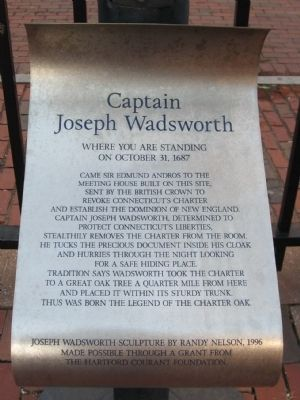 Captain Joseph Wadsworth Marker Photo, Click for full size
