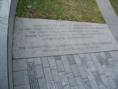 Inscription on the Walk of Remembrance Photo, Click for full size