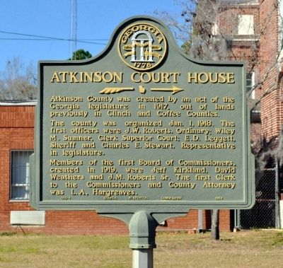 Atkinson Court House Marker image. Click for full size.