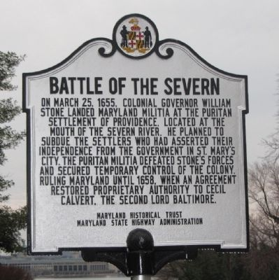 Battle of the Severn Marker image. Click for full size.