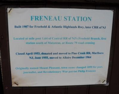 Freneau Station Marker image. Click for full size.