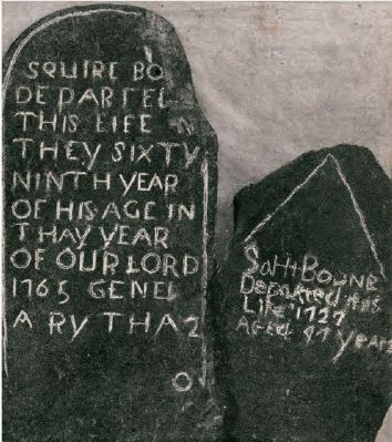 Tombstones of Squire and Sarah Boone image. Click for full size.