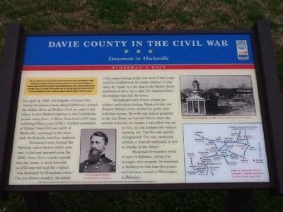 Davie County in the Civil War Marker image. Click for full size.
