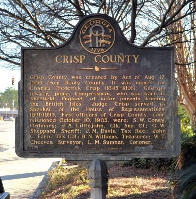 Crisp County Marker image. Click for full size.