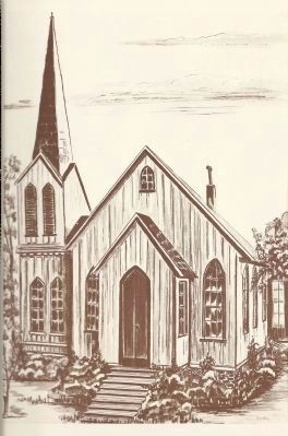 Grace Episcopal Church<br>First Building Erected 1860 image. Click for full size.