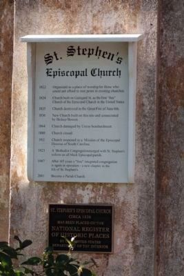 St. Stephen's Episcopal Church Marker image. Click for full size.