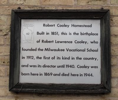 Robert Cooley Homestead Marker image. Click for full size.