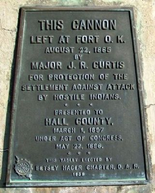 Fort O. K. Cannon Marker image. Click for full size.