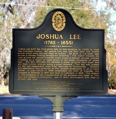 Joshua Lee Marker image. Click for full size.