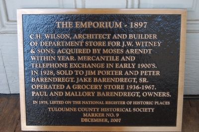 The Emporium – 1897 Marker image. Click for full size.