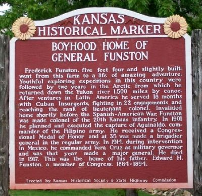 Boyhood Home of General Funston Marker image. Click for full size.