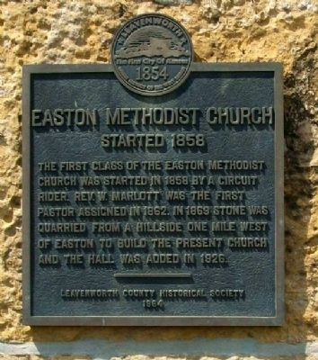 Easton Methodist Church Marker image. Click for full size.