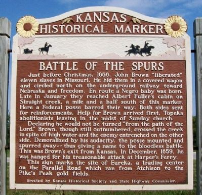 Battle of the Spurs Marker image. Click for full size.