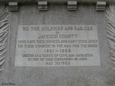 Soldiers' and Sailors' Monument Marker image. Click for full size.