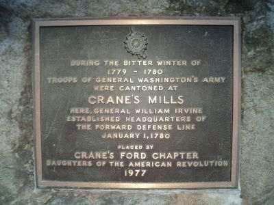 Crane�s Mills Marker image. Click for full size.