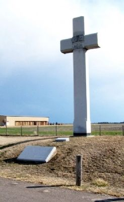 Fray Juan de Padilla Marker and Cross image. Click for full size.