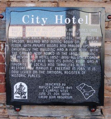 City Hotel Marker image. Click for full size.