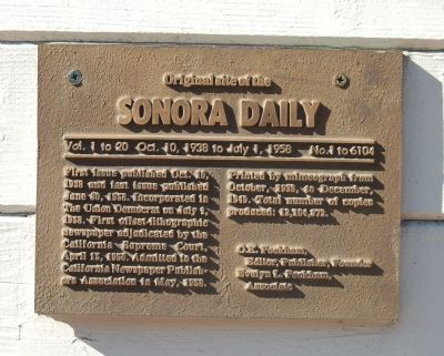 Original Site of the Sonora Daily Marker image. Click for full size.