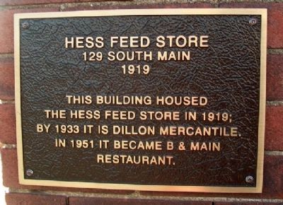 Hess Feed Store Marker image. Click for full size.