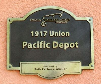 1917 Union Pacific Depot Marker image. Click for full size.