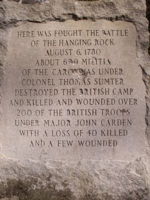 The Battle Of The Hanging Rock Marker image. Click for full size.