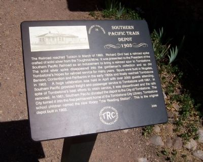 Southern Pacific Train Depot Marker image. Click for full size.