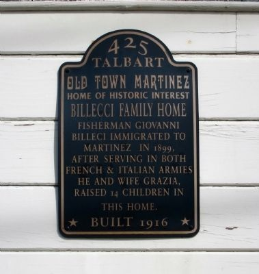 Billeci Family Home Marker image. Click for full size.