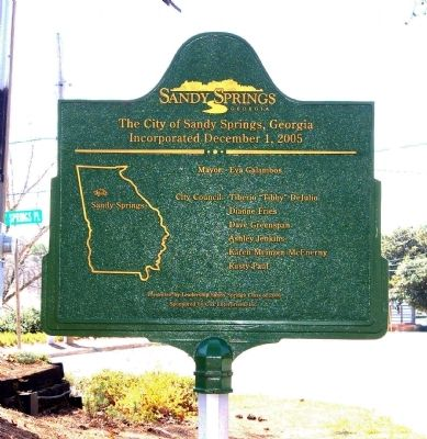 The City of Sandy Springs, Georgia Marker Photo, Click for full size