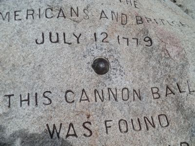 Closeup of Cannon Ball Photo, Click for full size