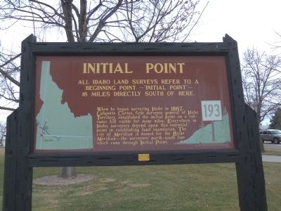 Initial Point Marker image. Click for full size.